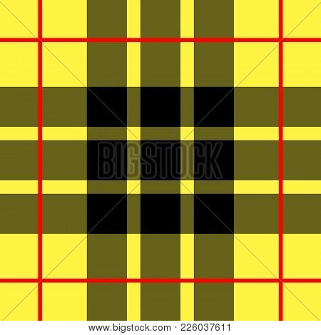 Scottish Cage, Yellow Celtic. Scottish Yellow Checkered Background. Scottish Pattern. Vector Illustr