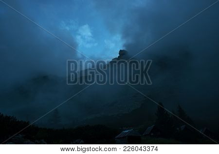 Mountain Peak Haze Clouds