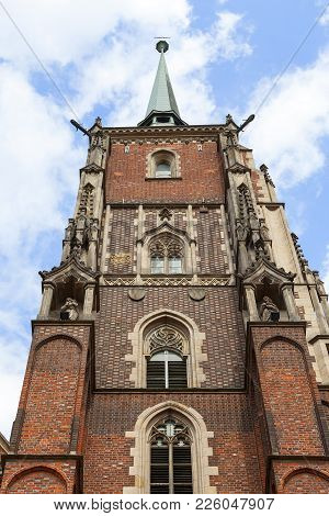 Wroclaw Cathedral (cathedral Of St. John The Baptist), Gothic Style Church On Ostrow Tumski Island,