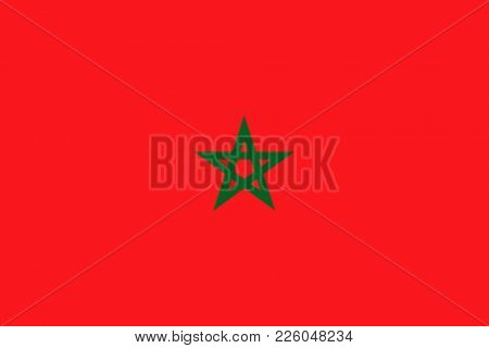 Flag of Morocco. Symbol of Independence Day, souvenir soccer game, button language, icon.