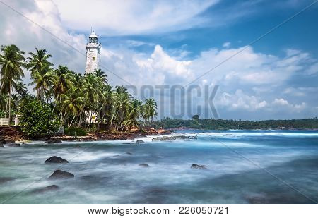 Dondra Lighthouse Is A Lighthouse Located On Dondra Head, Dondra, The Southernmost Point In Sri Lank