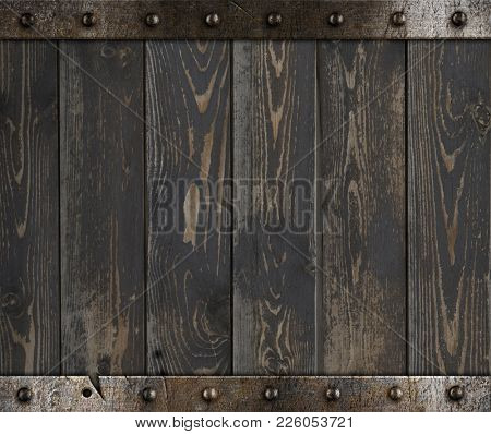 Wood barrel medieval background