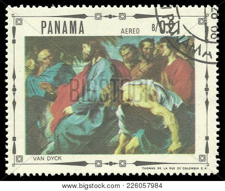Panama - Circa 1968: Stamp Printed By Panama, Color Edition On Art, Shows Religious Paintings By Ant