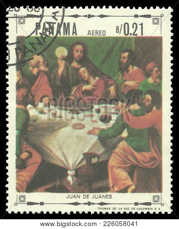 Panama - Circa 1968: Stamp Printed By Panama, Color Edition On Art, Shows Religious Paintings By Jua