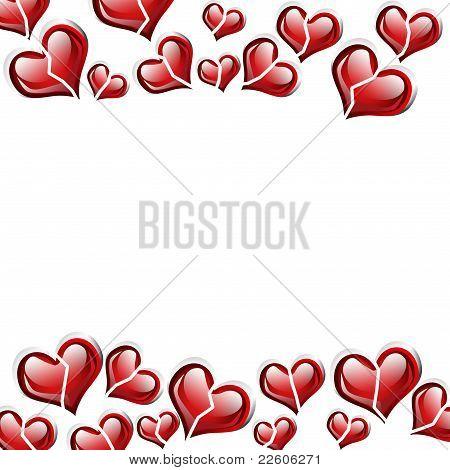 Broken Red Heart Background