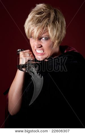 Vampire Woman With Athame