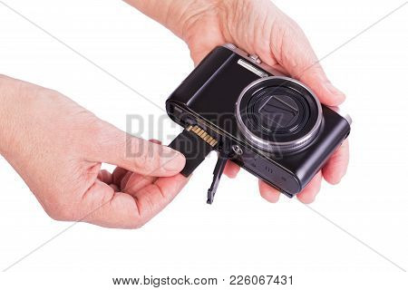 Memory Card  Inserted In The Camera.