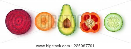 Isolated Vegetable Slices