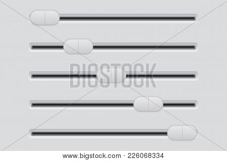Slider Bar. Interface Button. Vector 3d Illustration