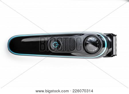 Hair Trimmer Isolated On The White Background. Beard And Hair Clippers.