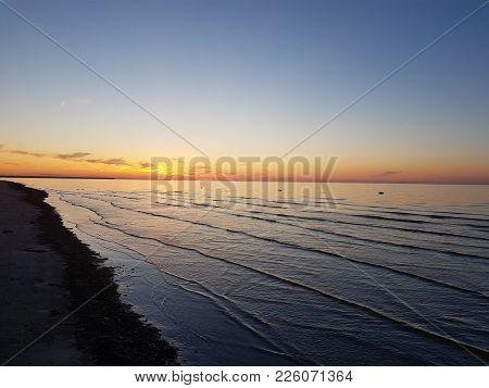 Peaceful Evening Near The Baltic Sea In Latvia