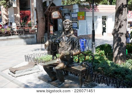 Yalta, Crimea - August 10, 2012: Monument To The Founder Of Yalta Film Studio Alexander Khanzhonkov