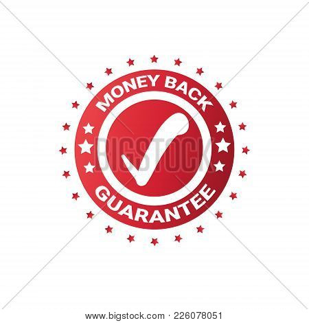 Money Back Sticker Sign Guarantee Seal Template Label Isolated Vector Illustration