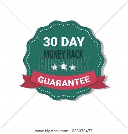 Money Back Medal Guarantee 30 Days Label Isolatedillustration
