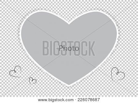 Photo Frame For Loved Spouse Or Child. Vector Illustration.
