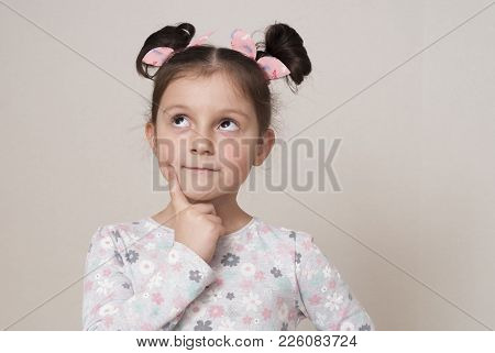 Portrait Of A Charming Little Girl