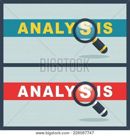 Illustration Of Analysis Word With Magnifier Concept