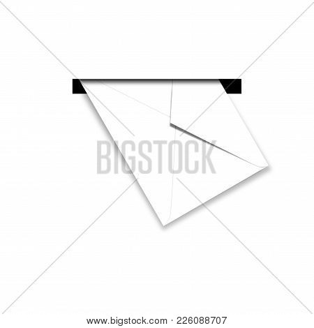 Postage And Packing Service - Envelope In Mailbox On A White Background.