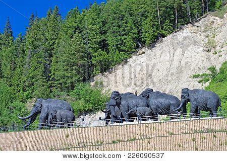 Editorial. Khanty-mansiysk, Yugra, Russia, June 23, 2008 . Archeopark. Samarovo Town. The Sculptural