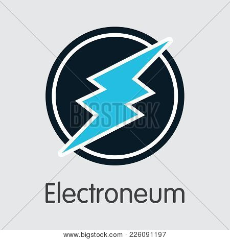 Electroneum - Digital Currency Simbol. Vector Illustration Of Cryptocurrency Icon On Grey Background