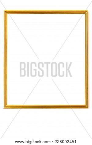 Gold Vintage Frame. Elegant Vintage Gold/gilded Picture Frame On White Background
