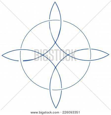Vector Icon For Wiccan Community: Witches Knot Also Known As Magic Knot Or Witches Charm Symbol.