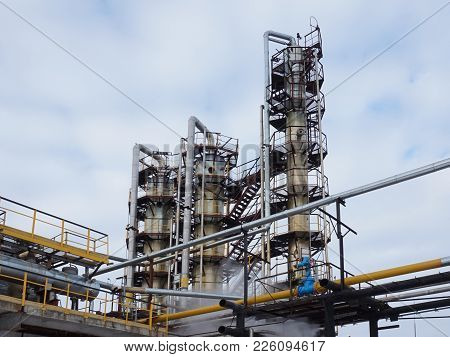 Industry. Installation Of Gas Purification From Foreign Impurities.