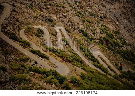 Challenging Road To Ancient Thera, Santorini, Greek Islands