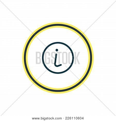 Vector Illustration Of Info Icon Line. Beautiful Contact Element Also Can Be Used As Information Ico