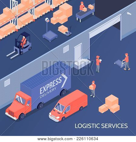 Logistic Services Including Goods Storage At Warehouse, Sorting Center, Shipment And Delivery Isomet