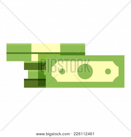 Bundle Cash Icon. Flat Illustration Of Bundle Cash Vector Icon For Web
