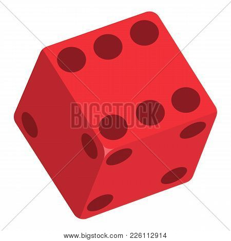 Dice Icon. Flat Illustration Of Dice Vector Icon For Web