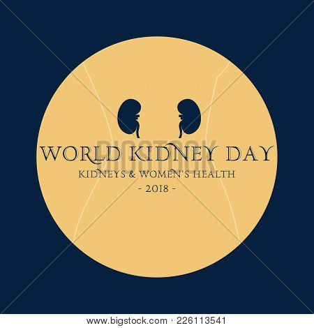 Vector Abstract Illustration For World Kidney Day. Kidney Health Awareness Campaign.