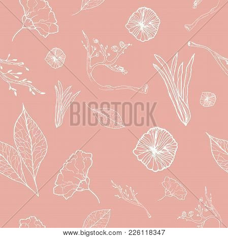 Elegant Pink Spring Tender Graphic Seamless Pattern