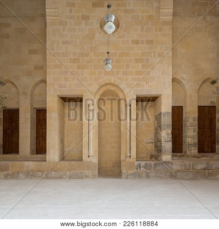 Public Mosque Attached To Al-muayyedi Bimaristan Historic Building, With Mihrab (niche) Engraved In