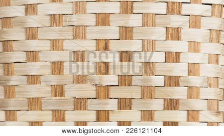 Material From The Intertwined Dried Bark Of A Tree Of Brown And Light Straw Color For A Basket