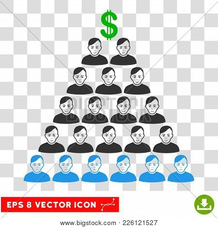 Ponzi Pyramid Scheme Eps Vector Icon. Illustration Style Is Flat Iconic Symbol On Chess Transparent