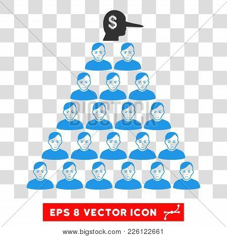 Ponzi Pyramid Manager Eps Vector Pictogram. Illustration Style Is Flat Iconic Symbol On Chess Transp