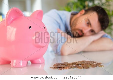 Upset Man After Bad Investment And Losing His Savings