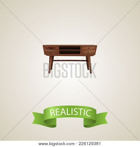 Commode Realistic Element. Vector Illustration Of Commode Realistic Isolated On Clean Background For