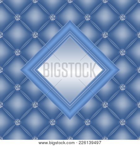 Illustration Of Upholstery Backgrounds With Diamond Buttons And Square Frame