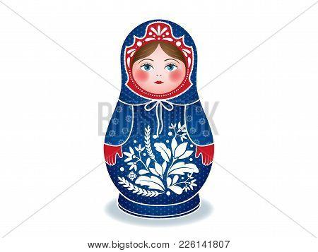 Russian Dolls Matrioshka, Babushka, Winter Style, Vector