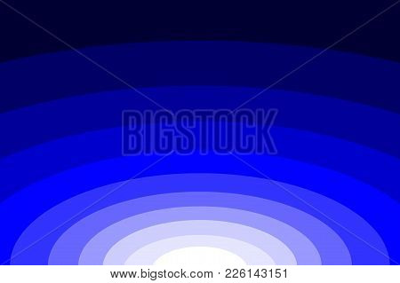 Abstract Striped Concentric - Blue Background, Ellipse Pattern,