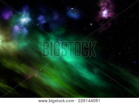 Small Part Of An Infinite Star Field Of Space In The Universe. Elements Of This Image Furnished By N