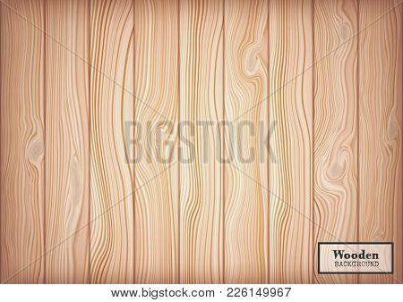 Wood Textured Background In The Form Of Wooden Boards.vector Illustration.