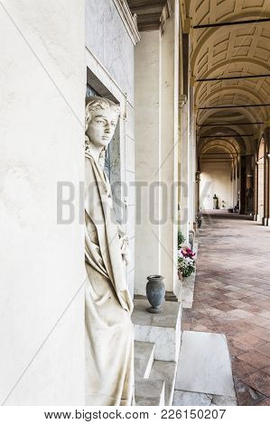 Forli, Italy - 20th January 2018: Guardian Angel Watches And Notes In Front Of Him