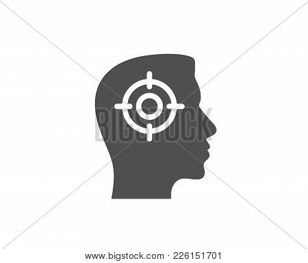 Head Hunting Simple Icon. Business Target Or Employment Sign. Quality Design Elements. Classic Style