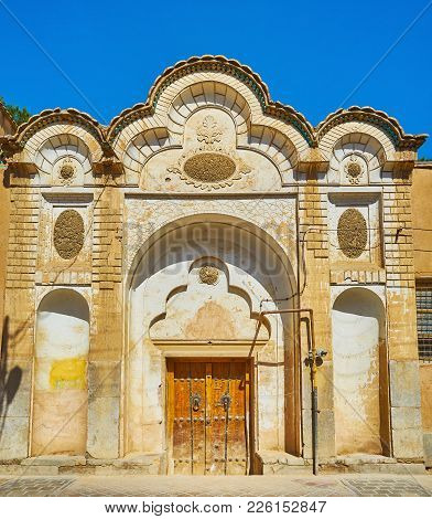 The Old Scenic Gate Of St Mary Church, Located In New Julfa Neighborhood, Famous Armenian Christian