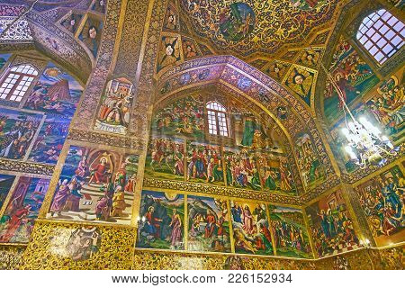 Isfahan, Iran - October 20,2017: The Picturesque Holy Savior Or Vank Cathedral Is The Perfect Place