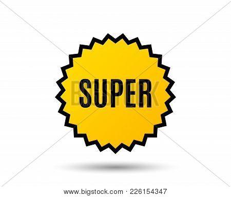 Super Symbol. Special Offer Sign. Best Value. Star Button. Graphic Design Element. Vector